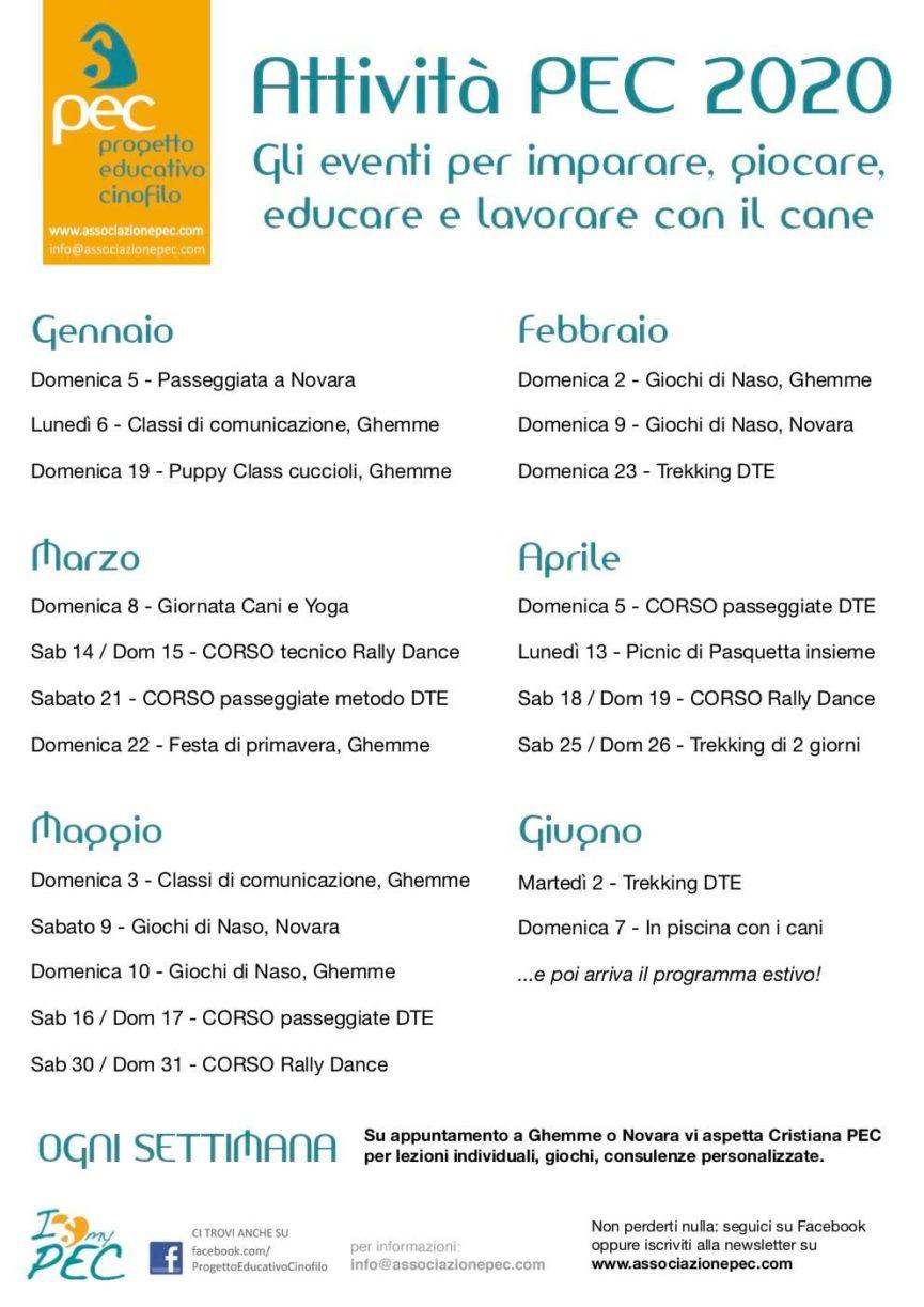 Attività con il cane 2020 Ghemme Novara Vercelli